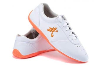 (US6.5//EUR38//Foot Length24CM, White) - BJSFXDKJYXGS Leather Tai Chi Shoes Martial Arts Kung fu Shoes Chi Kung Shoes Martial Arts Boxing Shoes