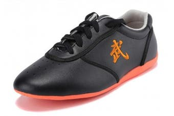 (US7.5//EUR40//Foot Length25CM, Black) - BJSFXDKJYXGS Leather Tai Chi Shoes Martial Arts Kung fu Shoes Chi Kung Shoes Martial Arts Boxing Shoes
