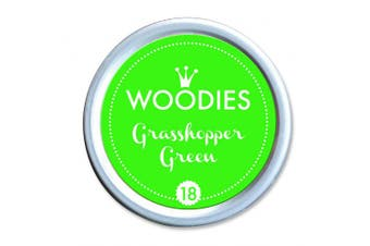 WOODIES Stamp Pad Ink Tin Grasshopper Green NEON (072045)