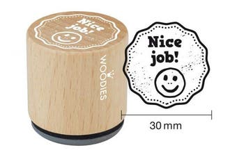 "WOODIES School Themed Stamp ""Nice job!"" 2.5cm - 0.5cm Impression (071875)"