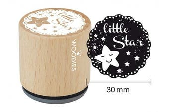 "WOODIES Baby Themed Stamp ""little Star"" 2.5cm - 0.5cm Impression (071798)"