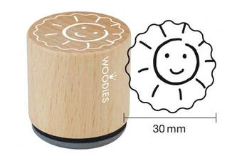 "WOODIES School Themed Stamp ""Sun"" 2.5cm - 0.5cm Impression (071881)"