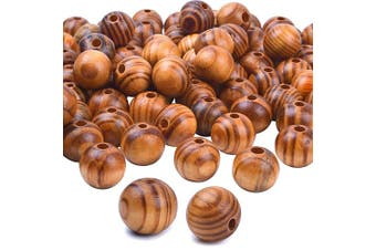 BronaGrand 100pcs Wood Round Bead Natural Wood Spacer Beads Wooden Beads for Jewellery Making DIY(16mm)