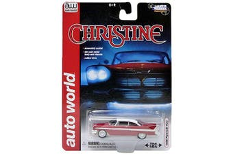 Auto World Christine Plymouth Fury – Scale 1/64 awss6401, Red/White