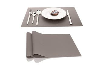 (Light Gray) - Placemats Table Place Mats Countertop Protection Heat Resistant Washable Easy to Clean Non Slip Thick Nonstick Pastry Mats Silicone for Kitchen Dining Baby Kid,45cm x 32cm , Set of 2, Light Grey