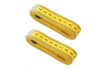 2Pcs 3m/300cm Yellow Soft Plastic Measuring Tape Professional Clothing Sewing Flexible Ruler for Home DIY Tailor Use
