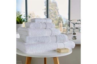 (Hand Towel, White) - Olivia Rocco Egyptian Cotton Towels, Luxe Collection Towel 700 GSM, Hand Towel White