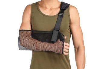Cool Mesh Arm Sling Medical Shoulder Immobiliser Thumb Support Rotator Cuff Wrist Brace Strap Lightweight Breathable Comfort for Broken & Fractured Bones