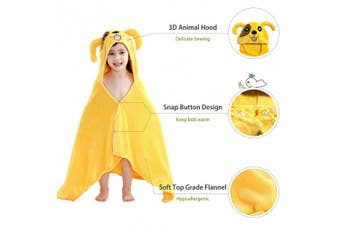 (Dog) - MICHLEY Animal Face Baby Bath Towels, Highly Absorbent Cotton Bathrobe for Boys Girls 0-5T (Dog)