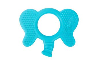 Dr. Brown's Flexees Friends Silicone Elephant Teether, Blue