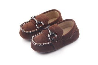 (12-18 Months, Coffee) - Lidiano Baby Nubuck Vamp Soft Sole Toddler Loafers Boat Shoes Crib Shoes (12-18 Months, Coffee)