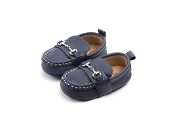 (0-6 Months, Deep Blue) - Lidiano Baby Soft Sole Toddler Loafers Boat Shoes Crib Shoes (0-6 Months, Deep Blue)
