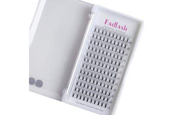 (10D-0.10-C, 15mm) - Volume Lash Extensions Premade 10D C Curl 0.10mm 15mm Individual Lashes Knot Free Cluster Lashes by FADLASH