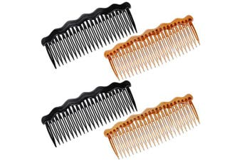 4 Pcs Plastic French Twist Comb Side Hair Combs with 24 Teeth Hair Comb Hair Clip Combs for Fine Hair