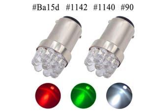 (Green) - Shangyuan 1004 LED Bulb, 1142 LED Bulb, 90 LED Bulb, Ba15d LED Bulb, Boat Light Bulbs, Mini Marine LED Bulb for Perko Lights Navigation Light Stern Light Courtesy Light Running Light 12 Volt, 2PCS
