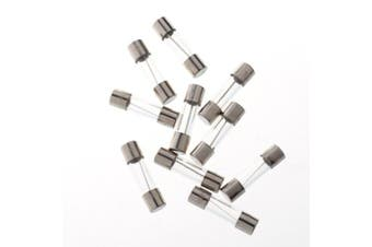 (2 Amp) - BCP pack of 10 pcs Slow-Blow Fuse 2A 250V Glass Fuses 20 x 5mm