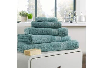 (Hand Towel, Duck Egg) - Olivia Rocco Egyptian Cotton Towels, Home Collection Towel 500 GSM, Hand Towel Duck egg