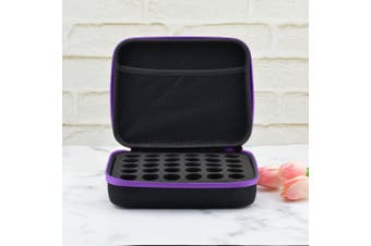 (Purple) - Lurrose Essential Oils Storage Case Holds 30 Essential Oil Bottles Travel Box Holder Organiser (Purple)