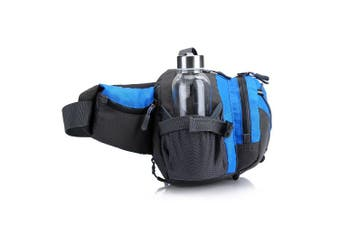 (Grey) - AdventureAustria Large Bumbag with Bottle Holder Water Resistant Sports Waist Pack - Suitable for Hiking Walking Camping Travelling Etc. Comfortable Lumbar Pack Support. Adjustable & Reflective.