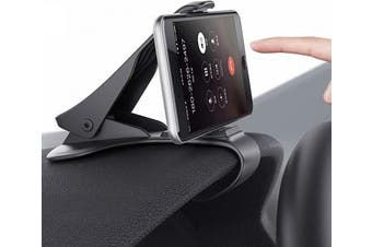 (New black) - Mate2GO Dashboard Cell Phone Holder, Phone Clip for Car, Phone Clip Holder, Clip on Dash Phone Holder for Car Compatible with iPhone Xs/XS MAX/XR/X/8/8Plus/7/7Plus/6s Galaxy S10/S9/S8/S7/Note