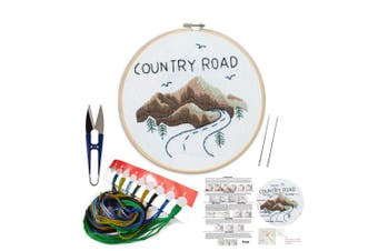(Mountain) - Embroidery Kit Including Embroidery Hoop,Colour Threads and Embroidery Scissors for Beginners-Handmade Needlepoint Kits for Adults Kids(Mountain)