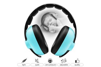 (Bluish Green) - BBTKCARE Earmuffs Infant Hearing Protection Baby Headphones Noise Cancelling Headphones for Babies for 3 Months to 2 Years