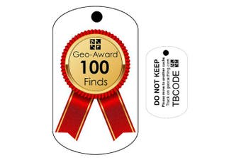 100 Finds Geo-Award (Travel Bug) for Geocaching - Trackable Tag - Unactivated