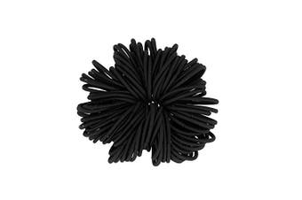 (Black) - Coobbar 100pcs Women Elastic Hair Ties Band Ropes Ring Ponytail Holder (Black)
