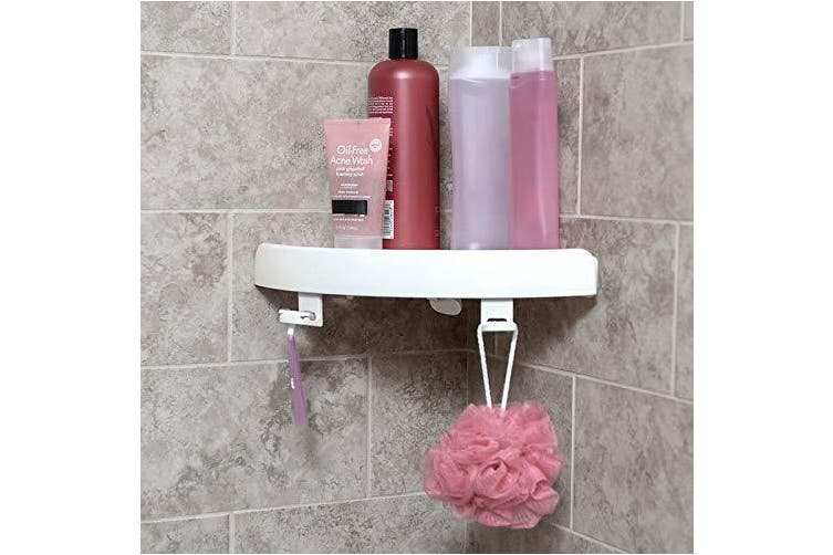 Shop Story Corner Shelf with Push Button Without Drilling 24.5 x 4.5 x 24.5 cm for Bathroom and Other