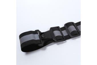 (Black, S-XL) - AYKRM 5 colours optional High Visibility Waist Belt,Reflective Running Gear,Running belt