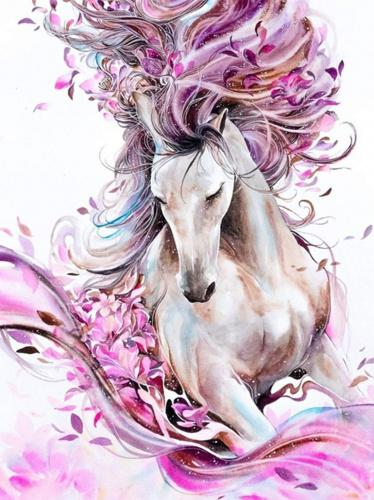 5D Diamond Painting Full Drill Embroidery Cross Stitch Kits Magic Horse Decors