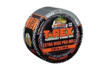 """(1-Roll 30 Yards x 2.83"""", Gunmetal Gray) - T-Rex 241358 Ferociously Strong Tape, Extra Wide Pro, 7.2cm x 30 yd (Single Roll), Dark Gunmetal Grey, 1 30 Yards"""