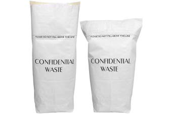 Alina 4 x Peel & Seal Large 60L Paper Sack/Paper Waste/Shredded Paper/Confidential Documents/Self Sealing/Free Standing (4 sacks)
