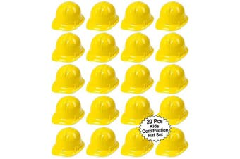 Toy Construction Hard Hats | 20 Pcs. Soft Plastic Yellow Kids Party Hat | Children's Engineer, Building Dress Up Hats | Theme Favour Caps | By Anapoliz