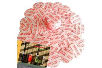 """Torque Activated Pressure Sensitive Seals Cap Liners - 24 mm (0.94"""") -200 PCS -Made in USA- for Glass & Plastic Bottles & Containers - No Induction Sealer Needed"""