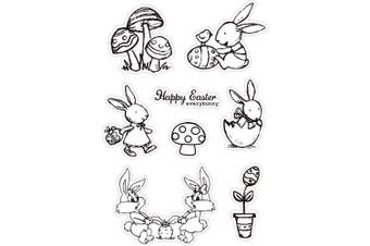 Happy Easter Egg Bunny Rubber Clear Stamp/Seal Scrapbook/Photo Album Decorative Card Making Clear Stamps