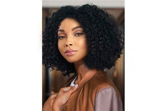 (Black) - AISI HAIR Natural Afro Kinky Curly Wig Black Curly Synthetic Hair Wig Short Afro Curly Wig Heat Resistant Fibre Hair Side Part Wig for Women …