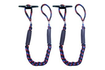 (1.8m stretches to 2.7m) - Botepon 2Pcs Boat Dock Line, Bungee Cords for Boats, Boating Gifts for Men, Boat Accessories, Pontoon Accessories, Perfect for Jet Ski, SeaDoo, WaveRunner, Kayak, Pontoon (1.2m, 1.5m, 1.8m Length)