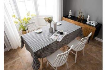 (140cm  x 210cm , Plaid 3- Grey) - Aquazolax Weights Tableclothes for 2.1m Rectangle Tables Antique Plaid Table Covers, 140cm x 210cm Grey