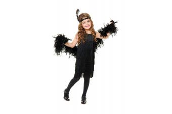 (X-Large, Black) - Charades Little Girl's Fashion Flapper Childrens Costume, black, X-Large
