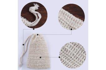 15 Pcs Soap Exfoliating Bag Drawstring Natural Sisal Soap Saver Pouch Mesh Soap Bar Bag for Shower
