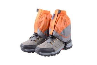(Orange & Gray) - TRIWONDER Gaiters Low Gators Lightweight Waterproof Ankle Gaiters for Hiking Walking Backpacking