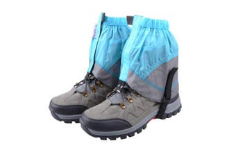 (Blue & Gray) - TRIWONDER Gaiters Low Gators Lightweight Waterproof Ankle Gaiters for Hiking Walking Backpacking