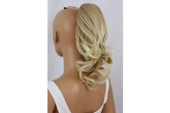(Blonde mix # 26T613C H136) - PRETTYSHOP 36cm Hair Piece Pony Tail Clip On Extension Voluminous Wavy Heat-Resisting Blonde mix # 26T613C H136