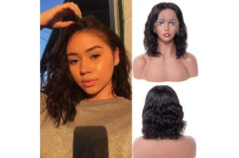 (25cm , Deep Curly Bob) - BLY Bob Curly Human Hair Lace Front Wigs Short Deep Wave Curly Hair 13x 4 Lace Part 150% Density Pre Plucked with Baby Hair Natural Hairline (25cm , Deep Curly Bob)
