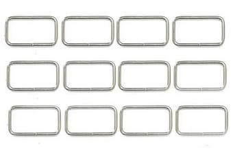 (25mm / 1 inch - 50pcs) - ALL in ONE Metal Bag Purse Snap Hook Rectangle Rings Webbing Belts Buckle (25mm / 1 inch - 50pcs)