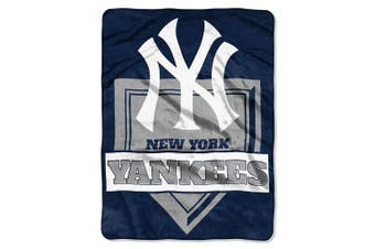 (New York Yankees, One Size, Multicolor) - The Northwest Company MLB Mens Royal Plush Raschel Throw