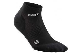 (V, Black/Grey) - CEP Men's Ankle Performance Running Socks Ultralight Low Cut (