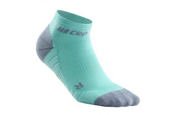 (IV, 3.0 - Ice/Grey) - CEP Women's Ankle Compression Running Low Cut Socks for Performance