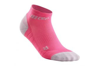(II, 3.0 - Rose/Light Grey) - CEP Women's Ankle Compression Running Low Cut Socks for Performance
